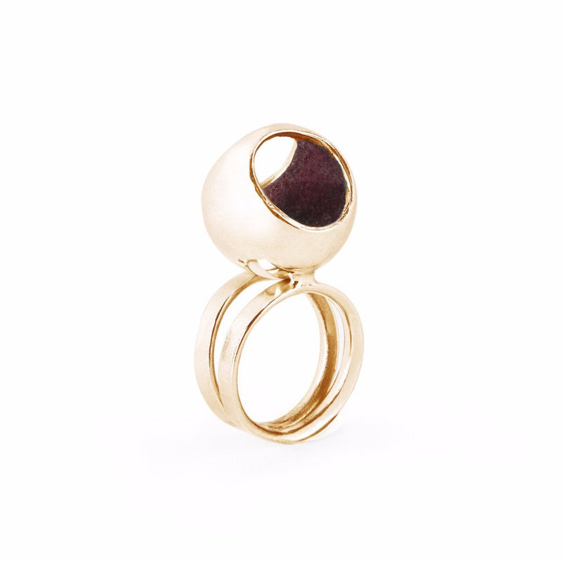 Monica Varela Hurita Double Band Ring-Rings-DREEMS