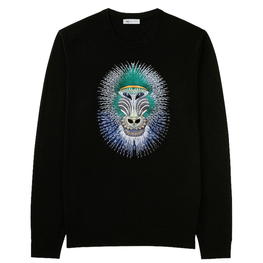 MPJ Baboon Embroidered Pullover-Sweatshirt-DREEMS