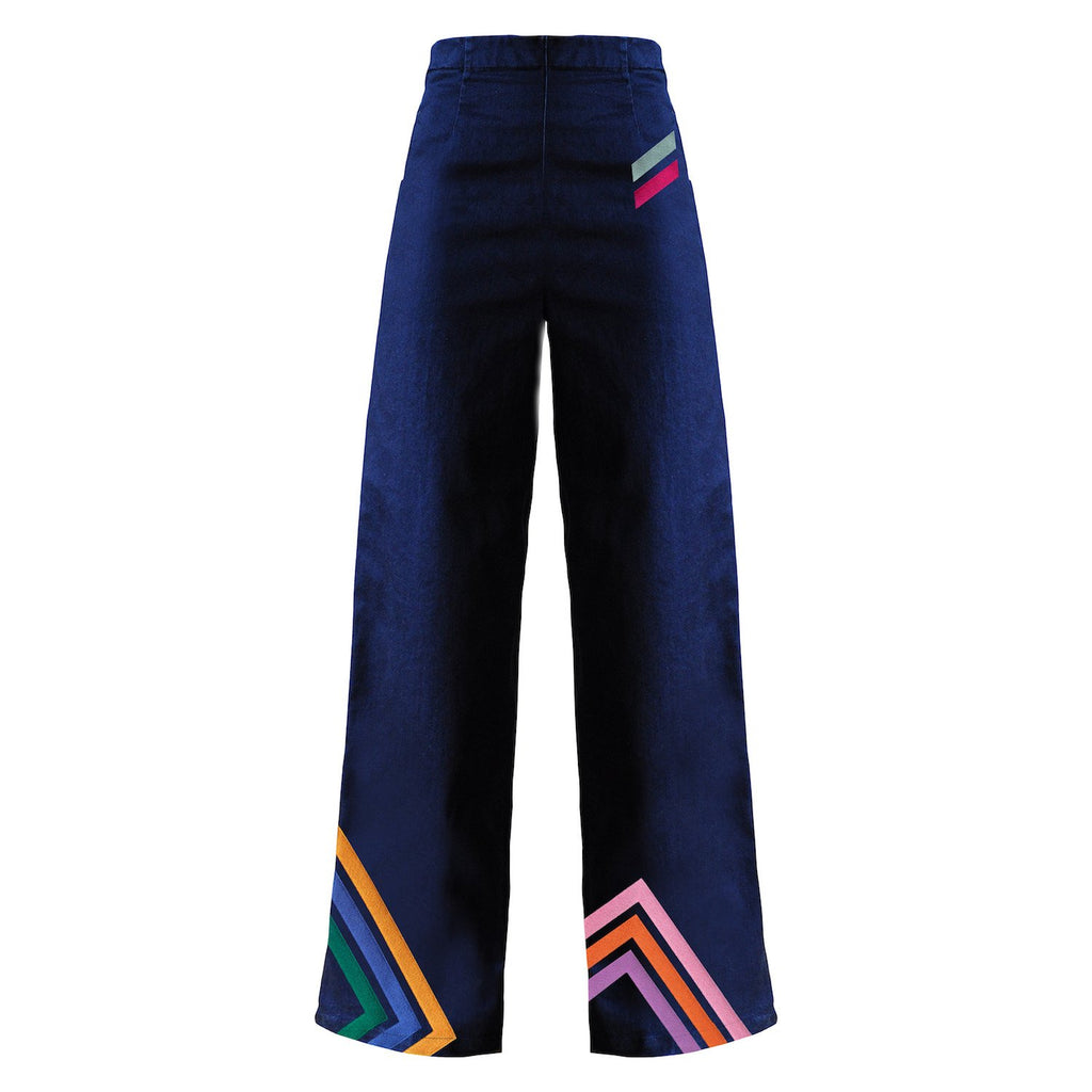 MPJ Liza Embroidered Wide-Legs Jeans-Pants-DREEMS