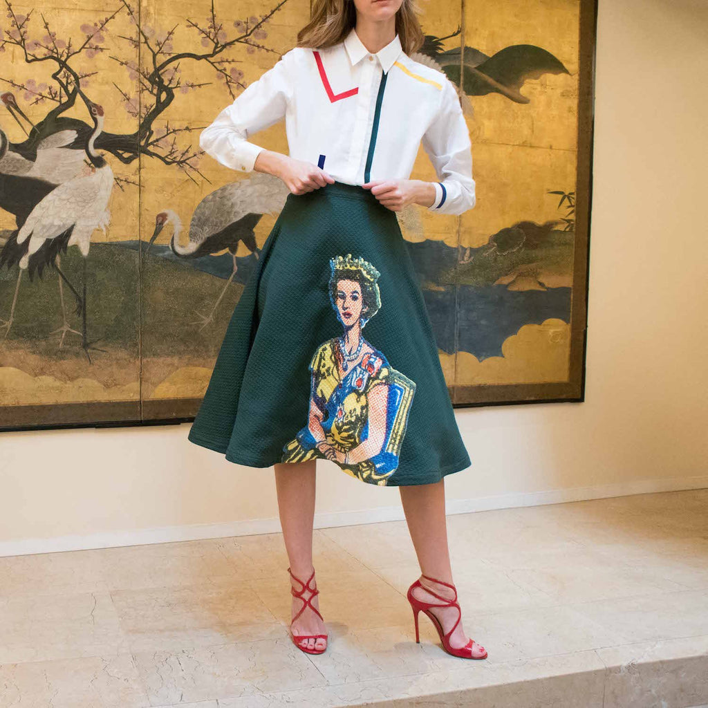 MPJ Queen Printed Round Skirt-Skirts-DREEMS