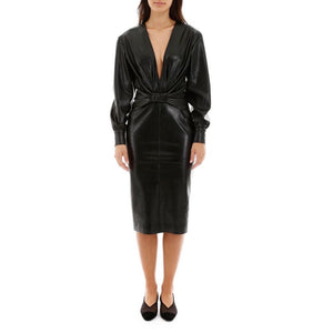 MSGM Abito Faux Leather Dress-Dresses-MSGM-DREEMS