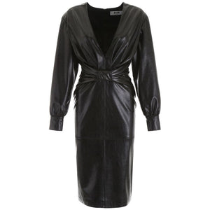 MSGM Abito Faux Leather Dress