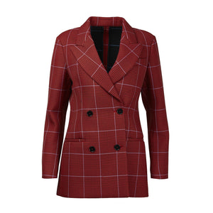 MSGM Giacca Check Double-Breasted Blazer