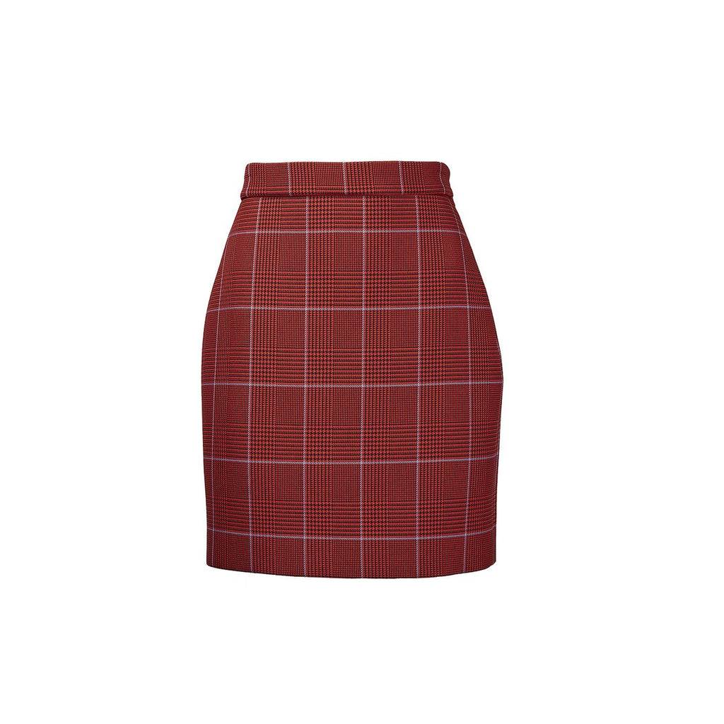 MSGM Gonna Houndstooth Short Skirt