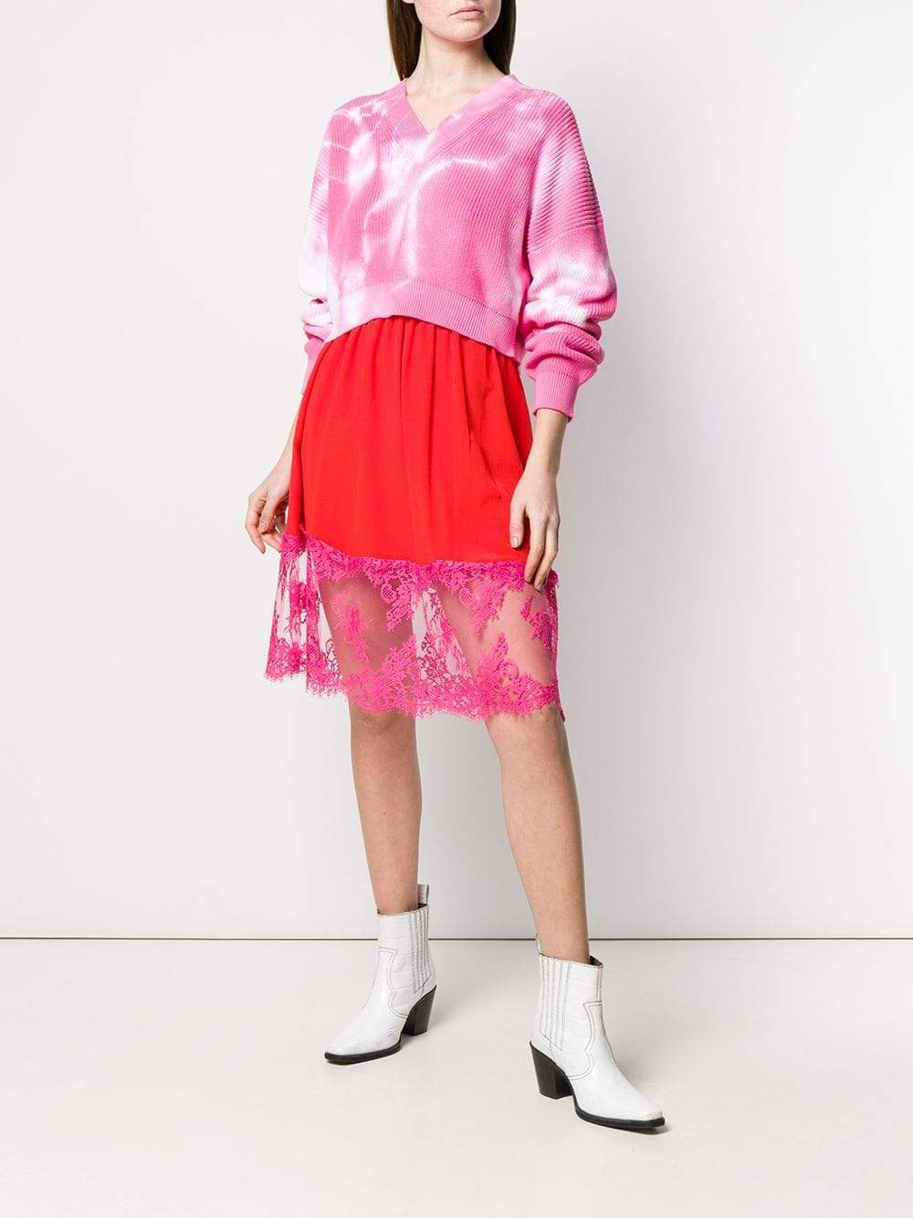 MSGM Lace-trimmed Skirt-Skirts-DREEMS