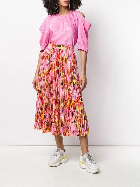 MSGM Micro-pleated Midi Skirt-Skirts-DREEMS
