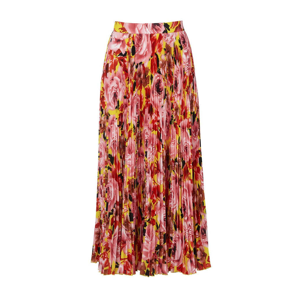 MSGM Micro-pleated Midi Skirt