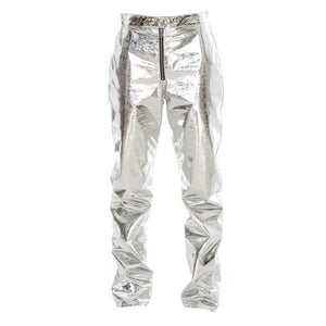 MSGM Pantalone Laminated Effect Pants