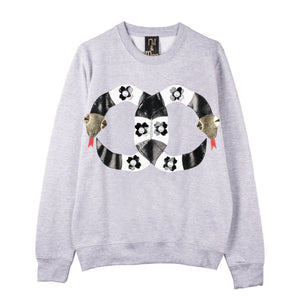 "Nil & Mon Sweatshirt ""Pearly Snakes""-Tops-DREEMS"