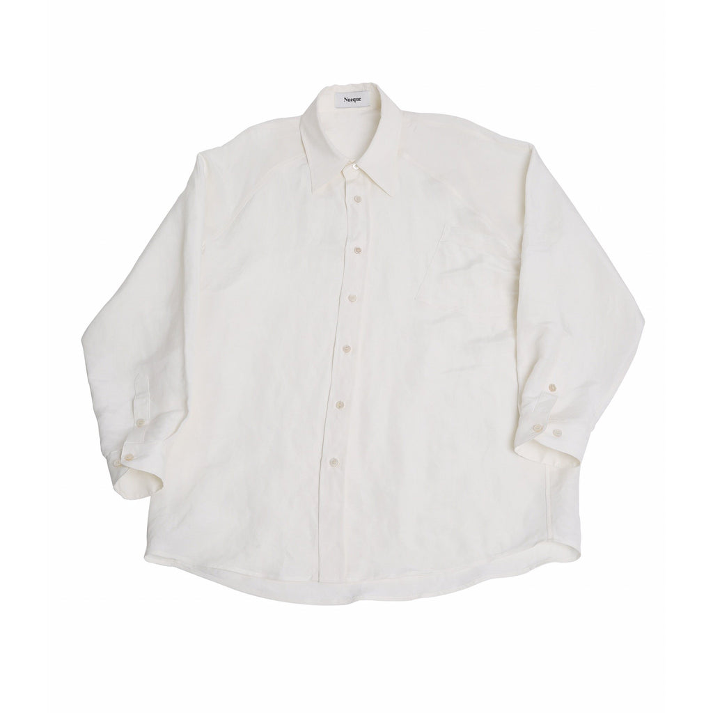 Nueque Oversized Linen-silk Shirts-Tops-DREEMS