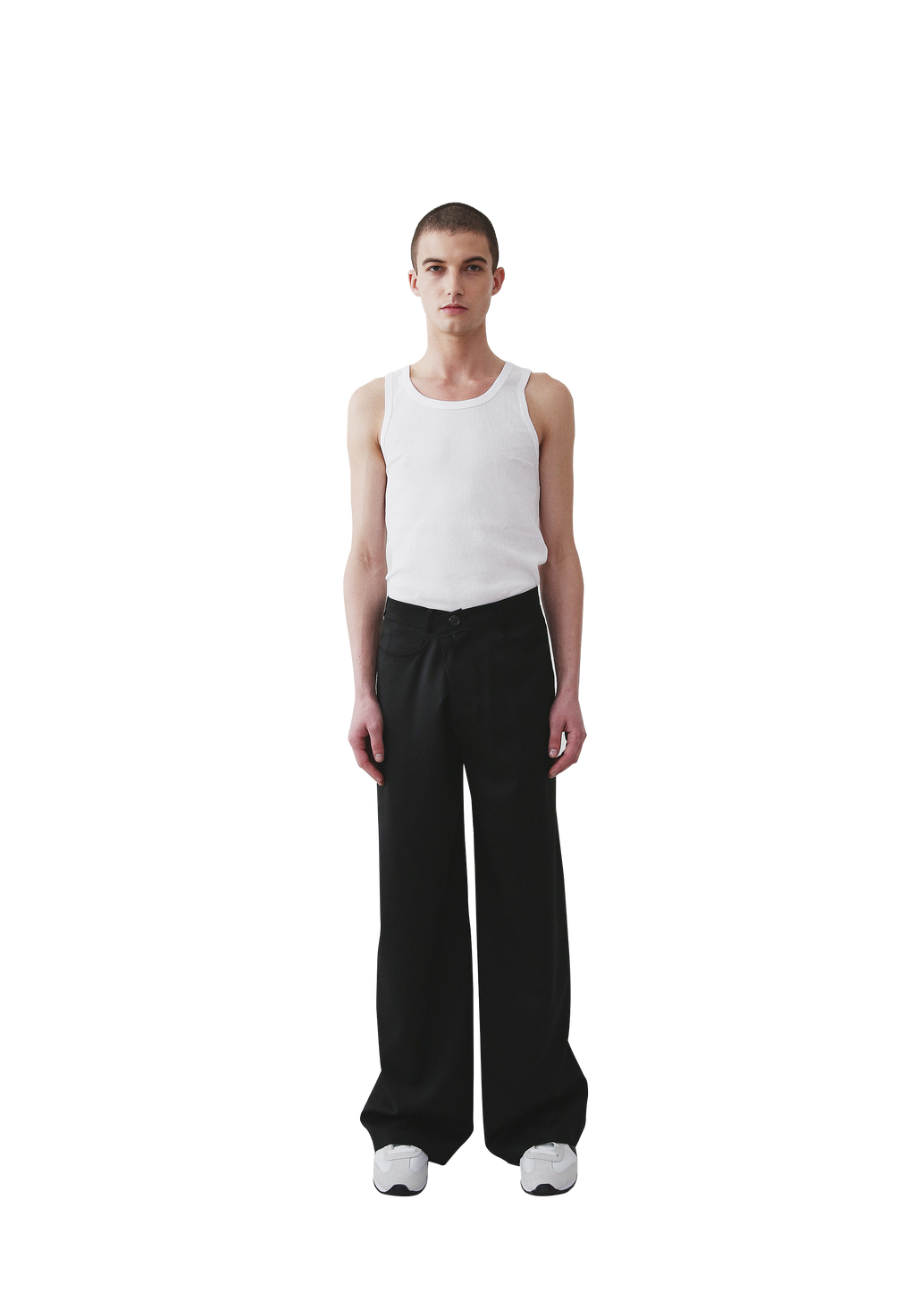 Nueque Unbalance Wide Leg Slacks-Pants-DREEMS