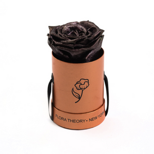 Preserved Roses Mini Rose Gold Box – Metallic Brown-Flowers-DREEMS