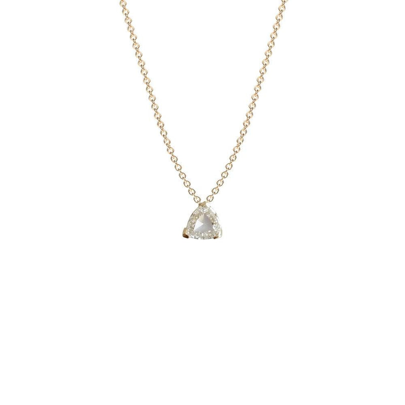Ri Noor Trillion Rose Cut Diamond Pendant Necklace-Necklaces-DREEMS