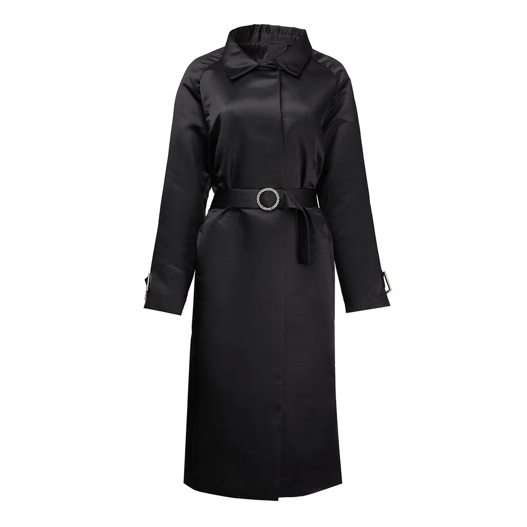 Richard Quinn Black Mac Coat-Coats-DREEMS