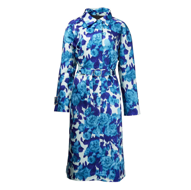 Richard Quinn Blue Moire Coat-Coats-DREEMS