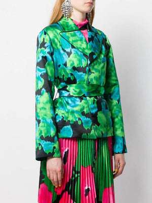 Richard Quinn Floral Print Cinched Jacket-Jackets-DREEMS