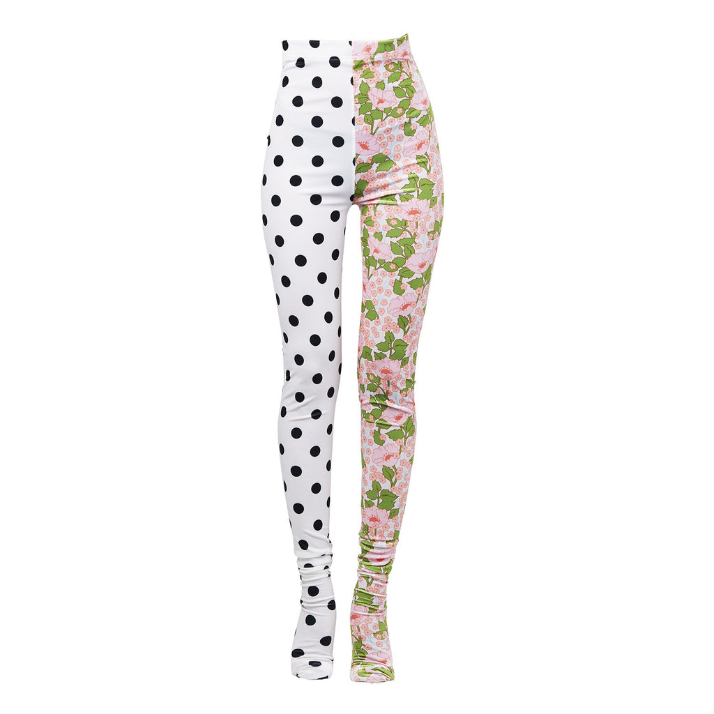 Richard Quinn Pip and Polka-dot Leggings-Bottoms-DREEMS