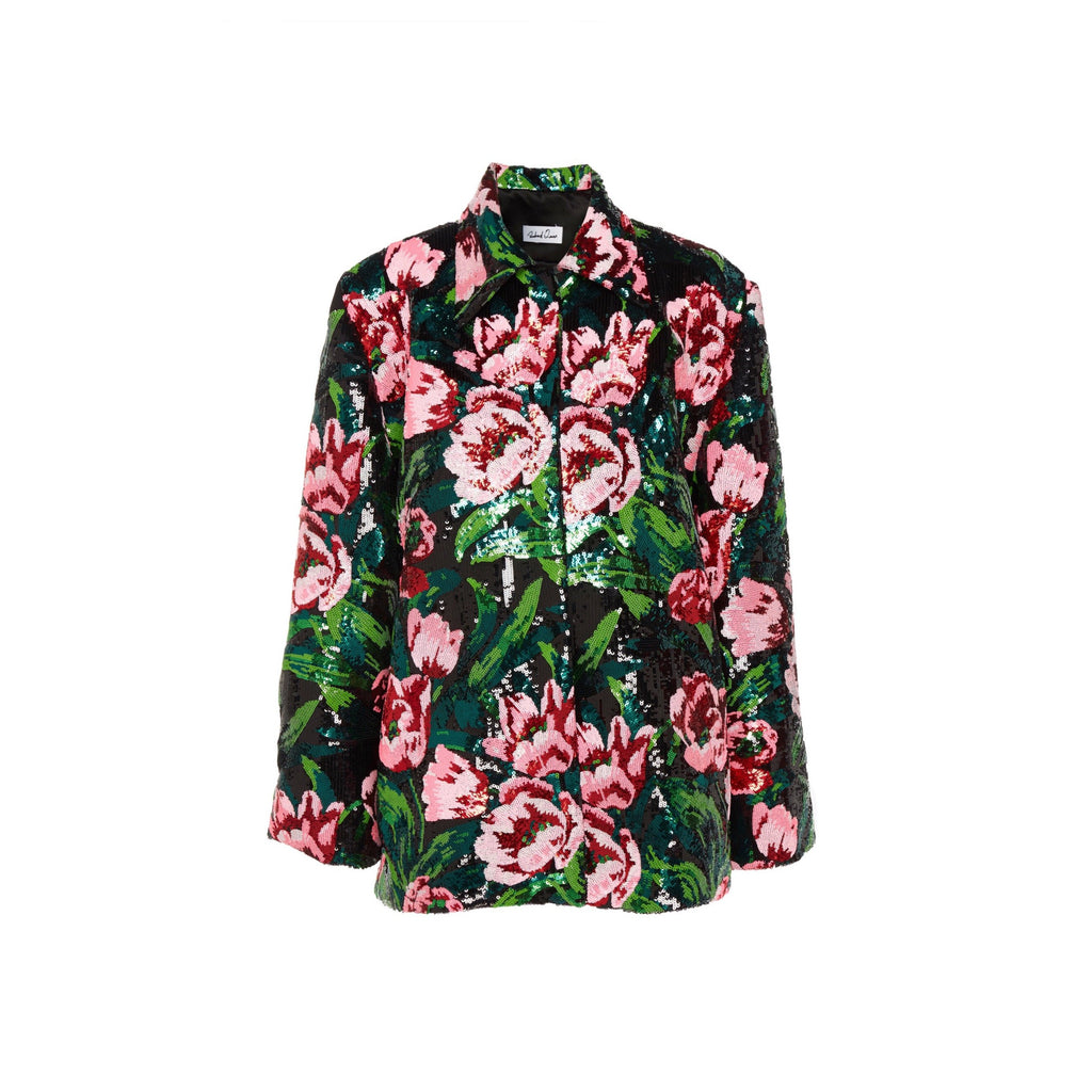 Richard Quinn Tulip Sequined Floral Jacket-Jackets-DREEMS