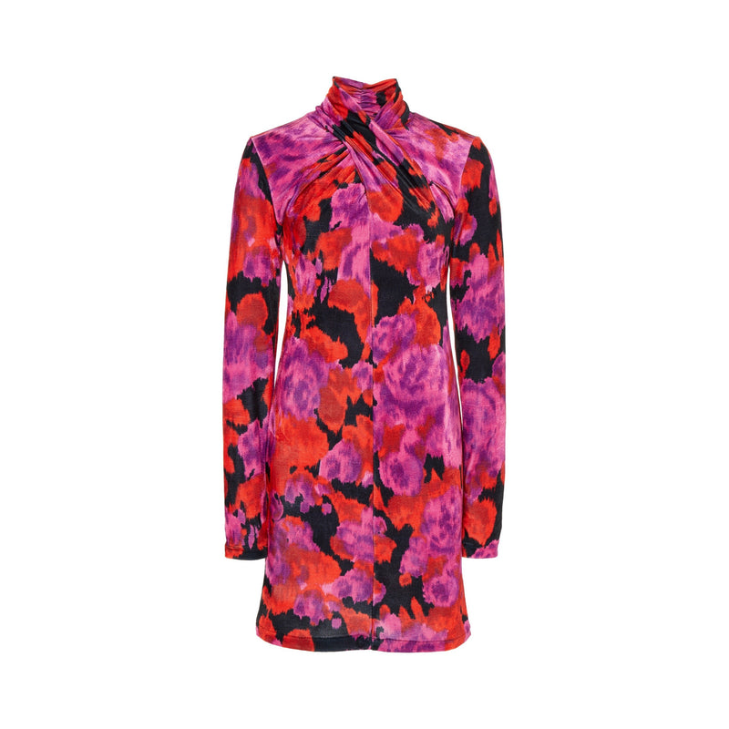 Richard Quinn Twisted Floral-Print Mini Dress-Dresses-DREEMS