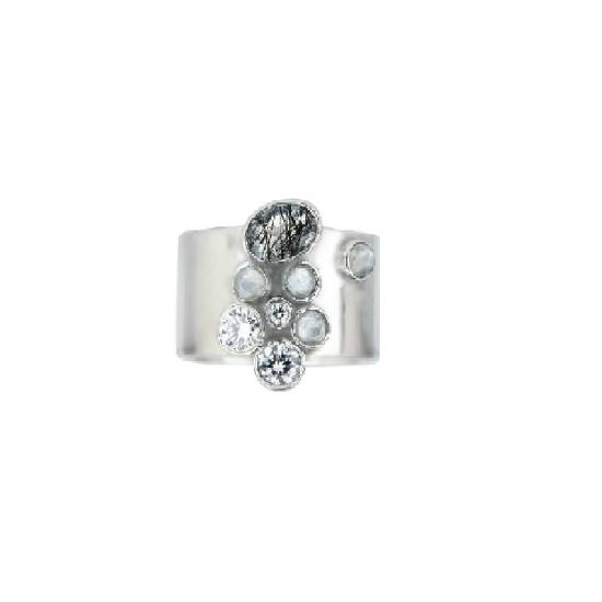 Shimmer by Cindy BR Cigar Band Ring-Jewelry-DREEMS