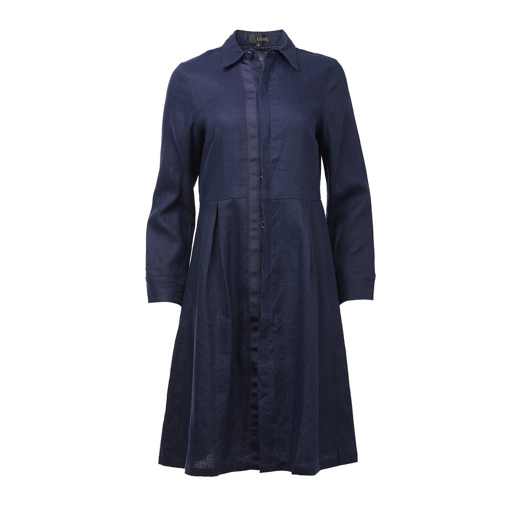 U-OLLZ Linen Cotton Dress Shirt-Dresses-DREEMS