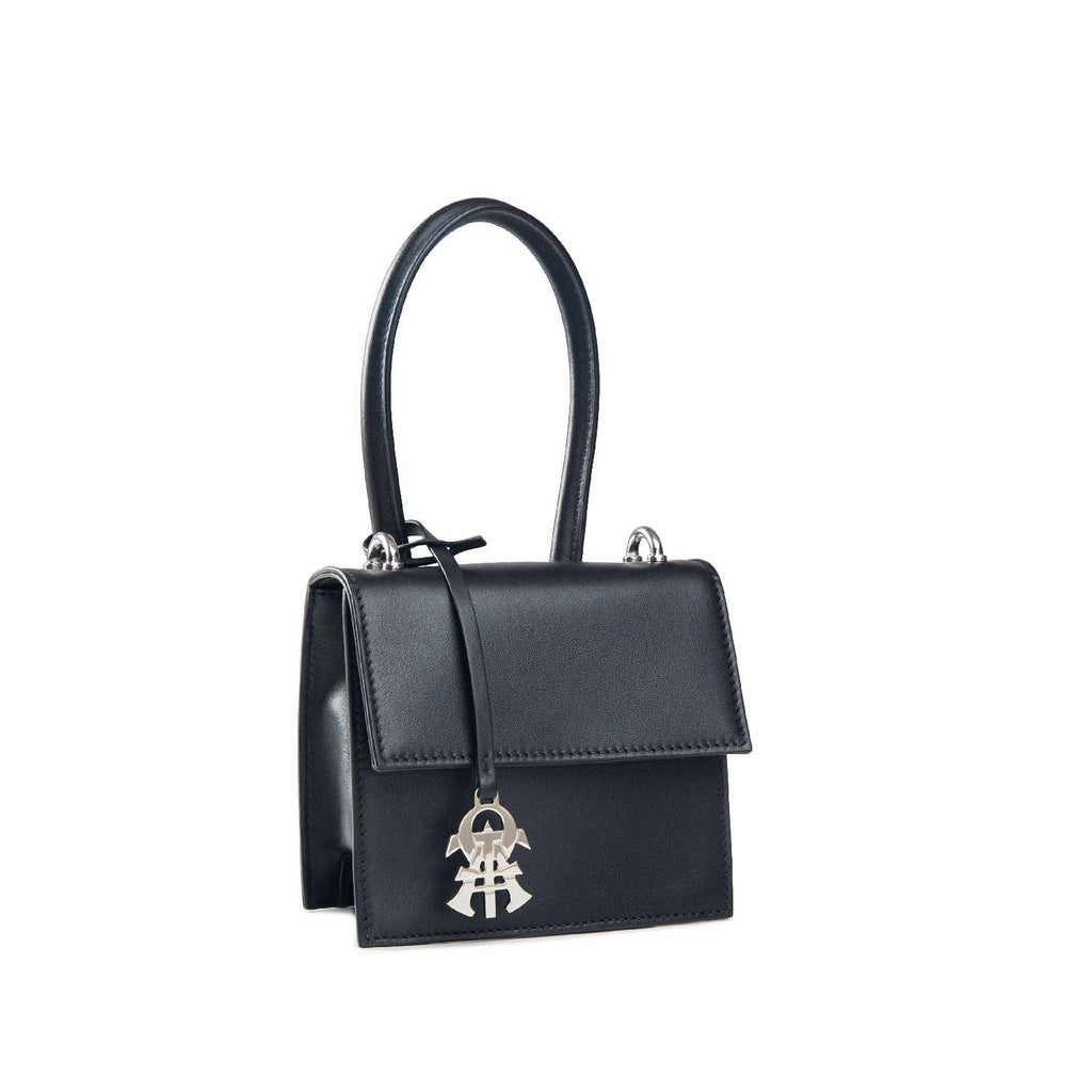 Alef Venus Black Nappa Leather Handbag
