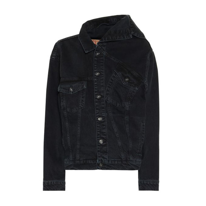 Y/Project Asymmetric Collared Denim Jacket