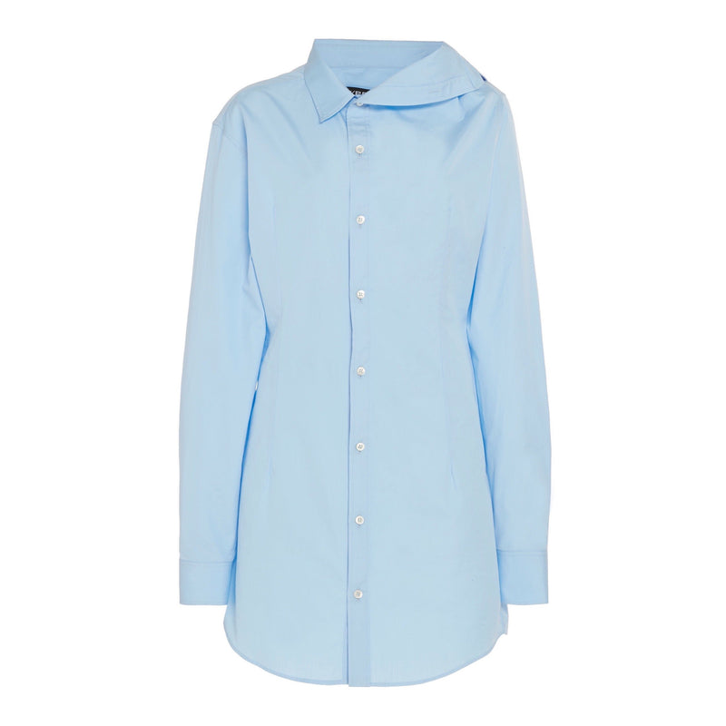 Y/Project Asymmetric Cotton Shirt Dress-Dresses-Y/Project-DREEMS