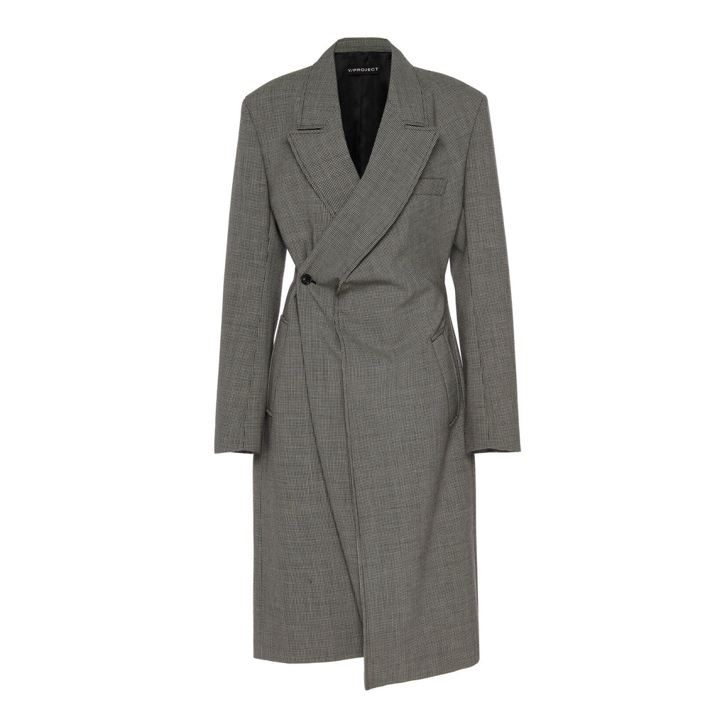 Y/Project Draped Wool Pop-Up Lapel Coat-Outerwears-Y/Project-DREEMS