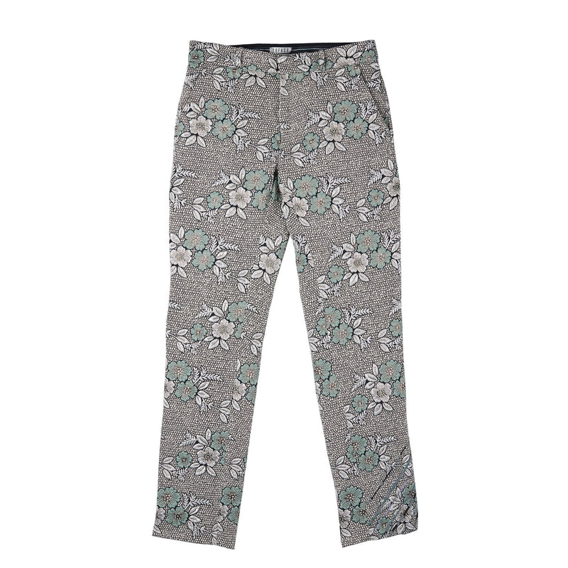 Yufash Floral Reflective Embroided Trousers-M-Trousers-DREEMS