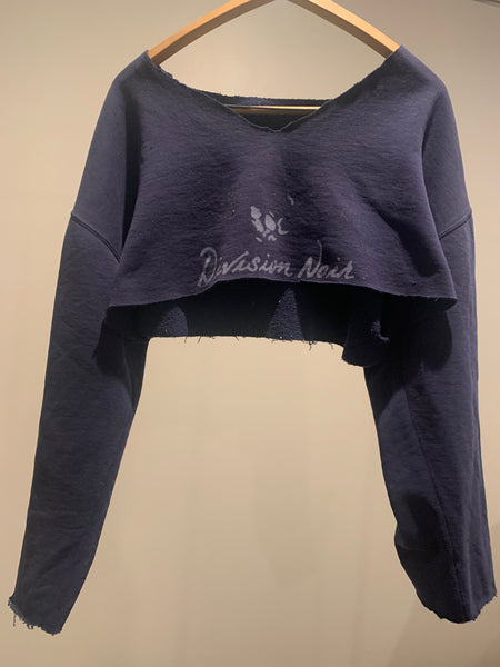 High Cut Vintage 1980's Logo Crop Top sweatshirt