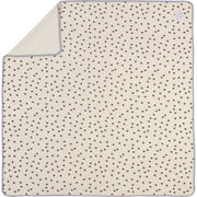 "Plush Single-Layer Baby Blanket with Grey Trim - Large, 43""x43"""