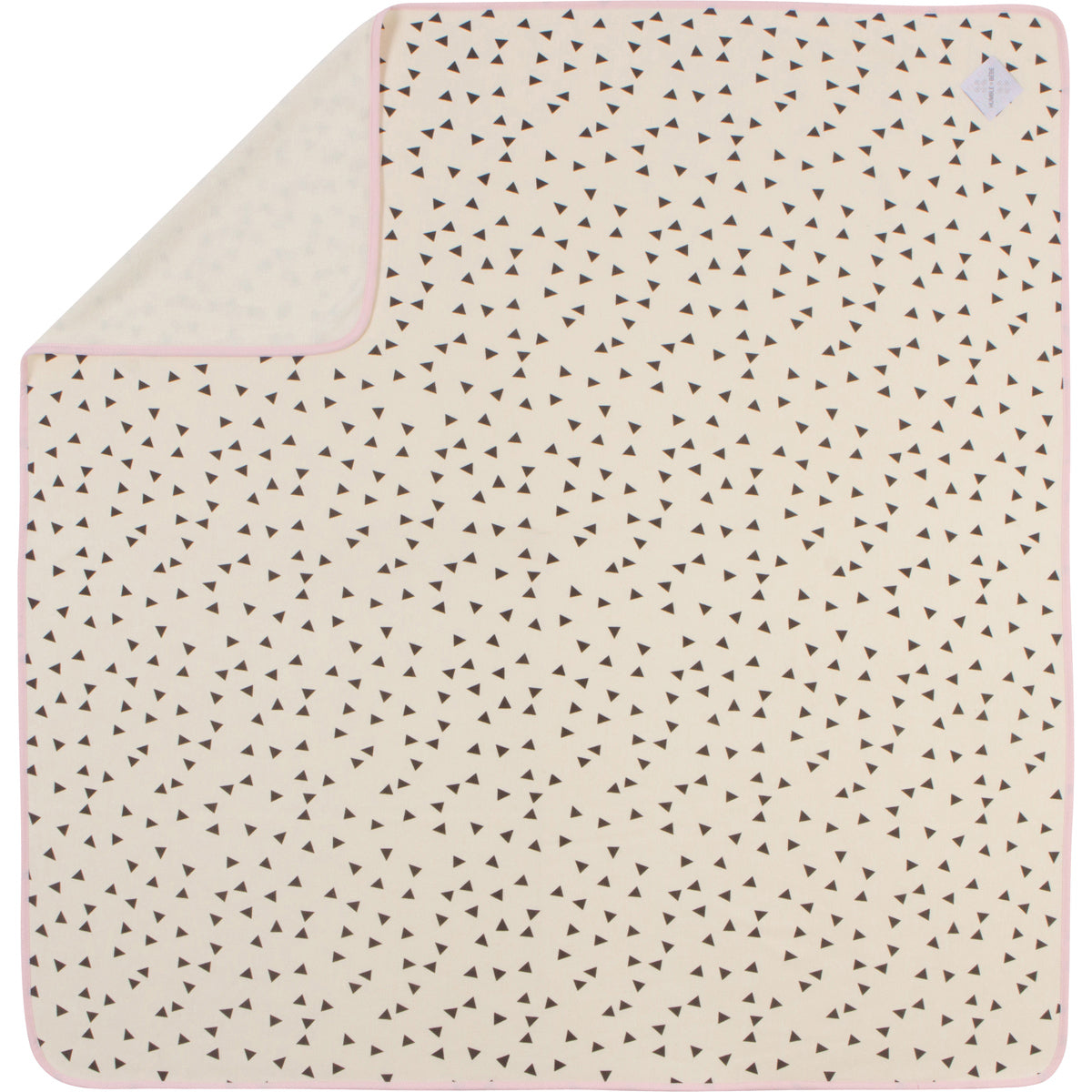 "43""x43"" Luxury Plush Single-Layer Baby Blanket with Pink Trim"