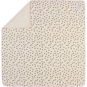 "Plush Single-Layer Baby Blanket with Pink Trim - Large, 43""x43"""