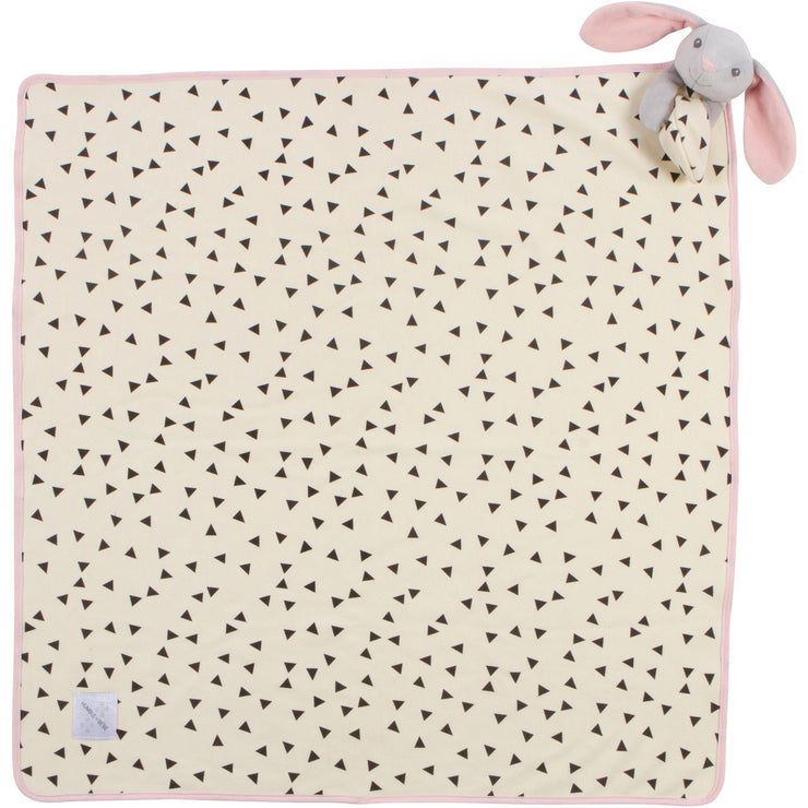 "Deluxe Lovey Blanket - Remy the Bunny Rabbit - 30""x30"""