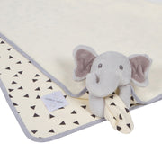 "Deluxe Lovey Blanket - Jory the Elephant - 30""x30"""