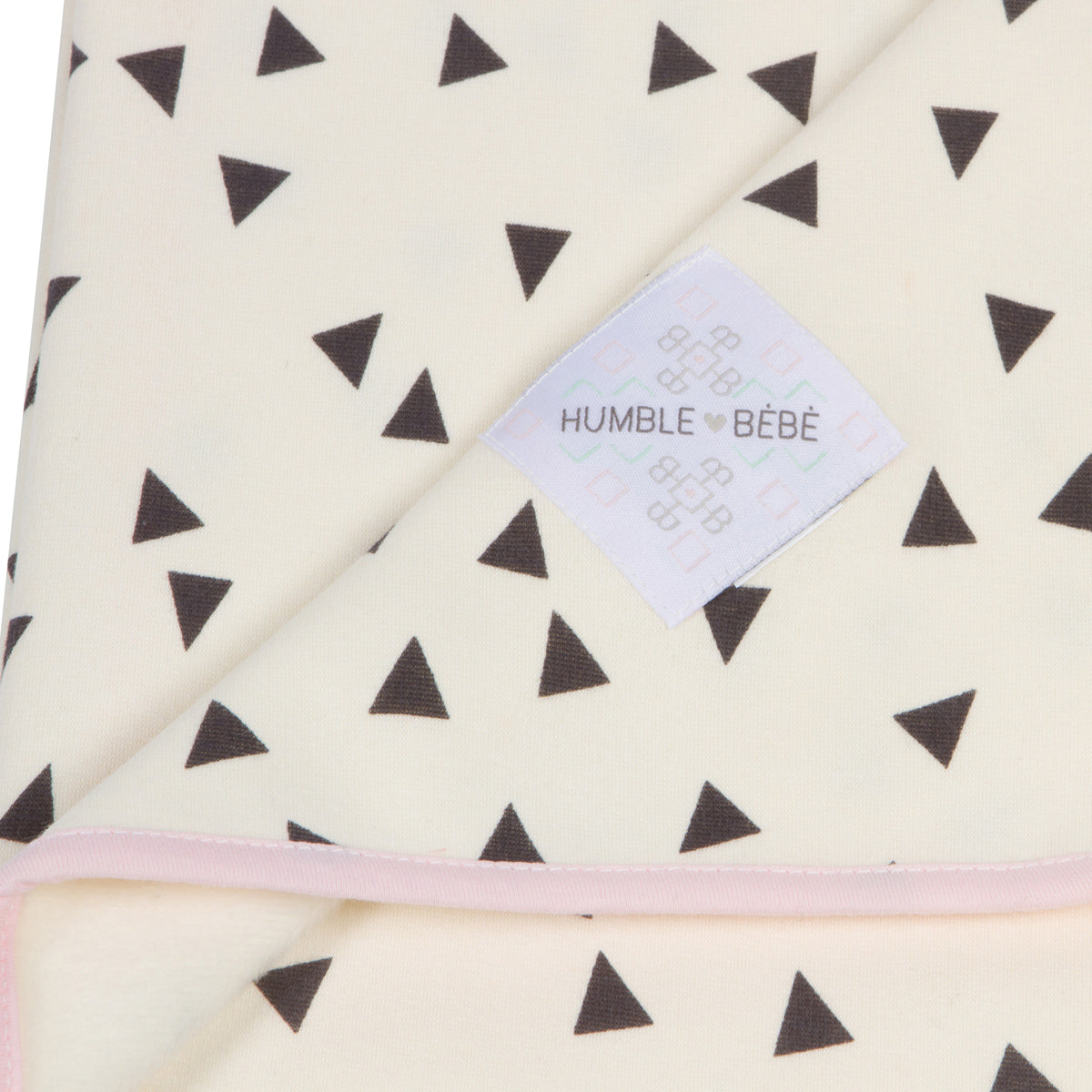 "30""x35"" Luxury Plush Single-Layer Baby Blanket with Pink Trim"