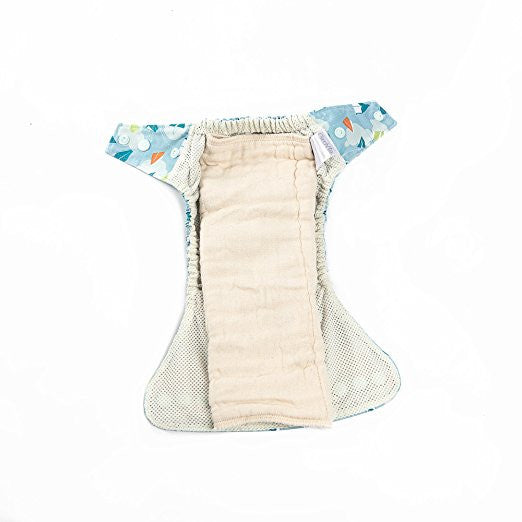 Premium Cotton Cloth Diapers — 12-PACK