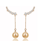Pearl Drop Hook Earrings, Earrings, Seven Miles Away - Seven Miles Away