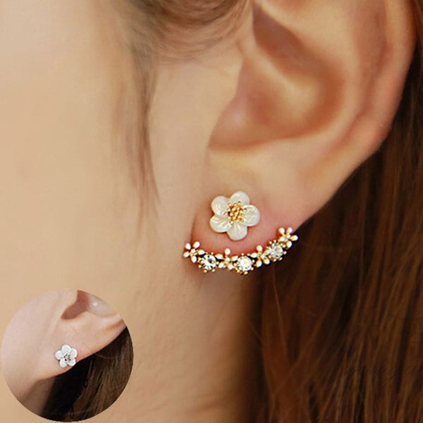 Double Sided Flower, Earrings, Seven Miles Away - Seven Miles Away