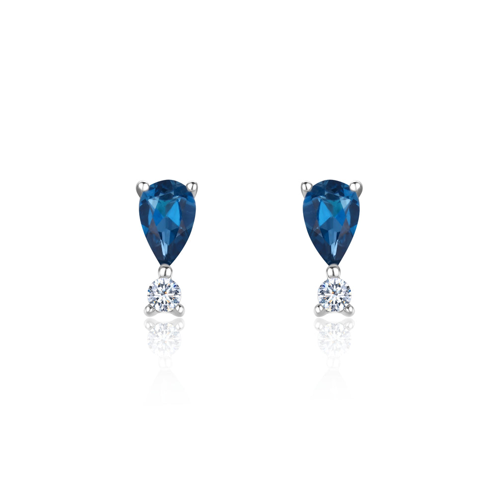 London Blue Topaz Teardrop Studs