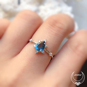 Gaia London Blue Topaz Ring