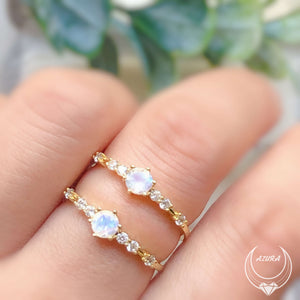 The Center of the Universe Moonstone Ring