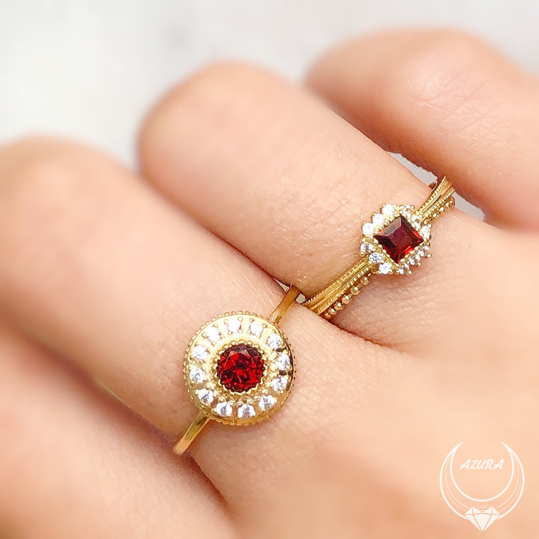 Radiance Red Garnet Ring