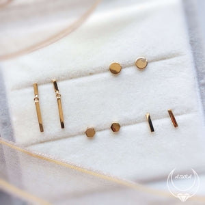 Load image into Gallery viewer, Thumbtack Studs (14K Solid Gold)
