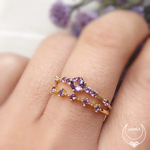 Load image into Gallery viewer, Amethyst Celestial Ring