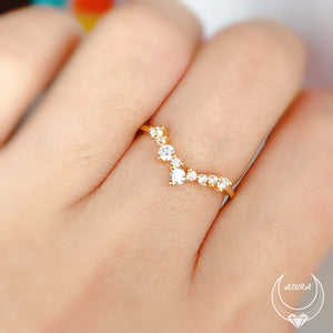 Twinkle Band Yellow Gold Ring