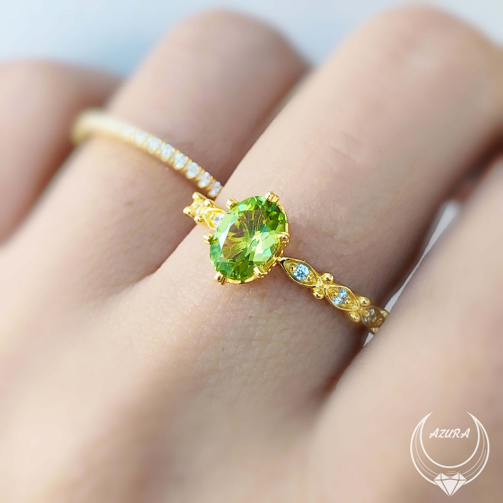 Dance With The Waves Peridot Ring