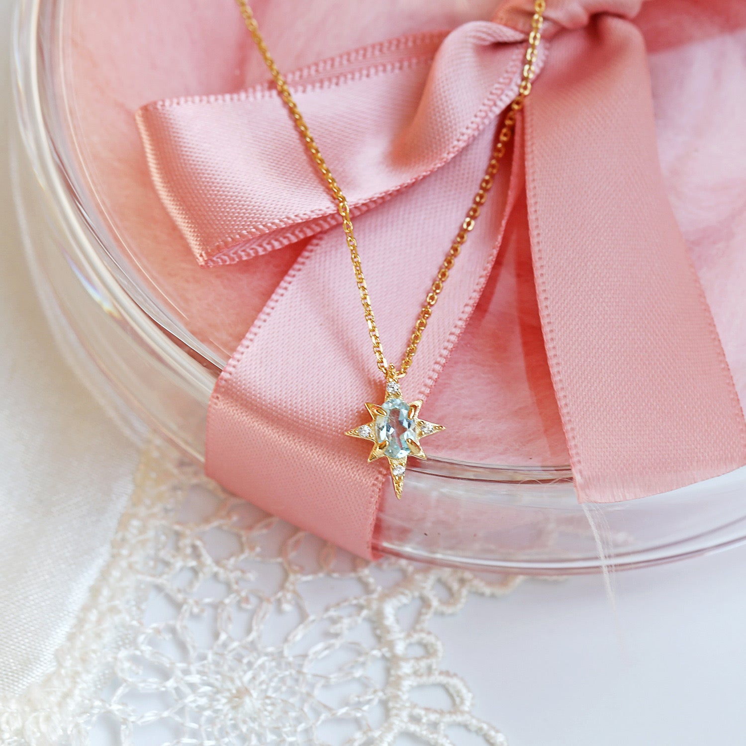 Ocean Star Aquamarine Necklace