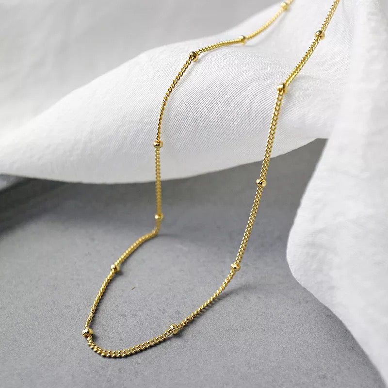 Satellite Beaded Chain Necklace